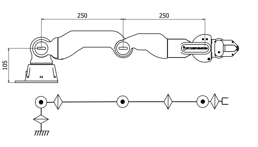 CRANE-Xの模式図