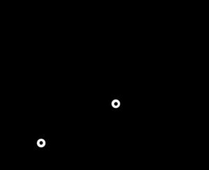関節角度と手先位置の関係の図式