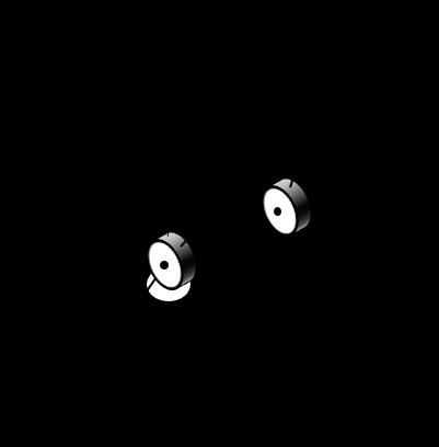 長さl2、l3のリンクと、原点と手先位置を結んだ3つの辺からなる三角形