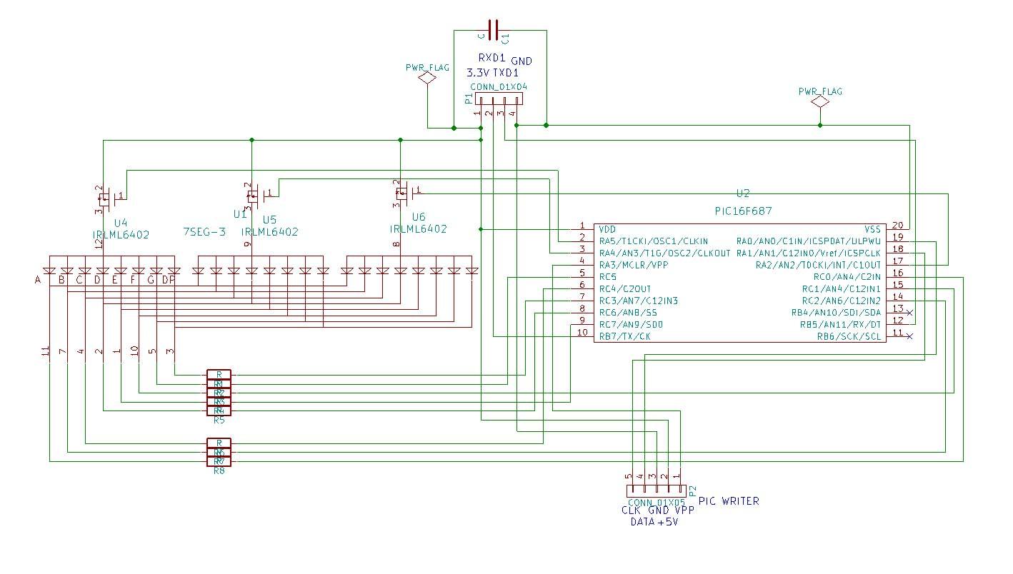 7セグ回路図