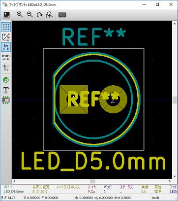 LEDのフットプリント