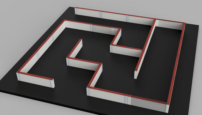 3DCADで作った4x4迷路
