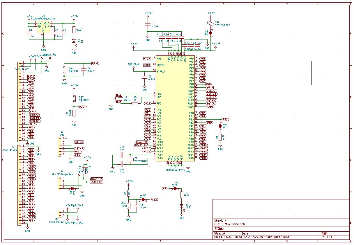 自作汎用基板の回路図