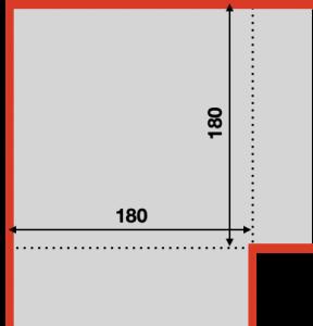 マイクロマウス競技の区画の大きさ