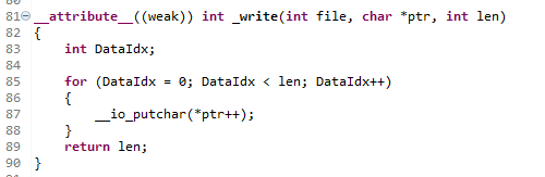_write関数は__io_putcharという関数を使用している