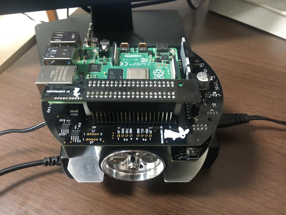 ラズパイマウスからmicro HDMIケーブルとキーボードを取り外す