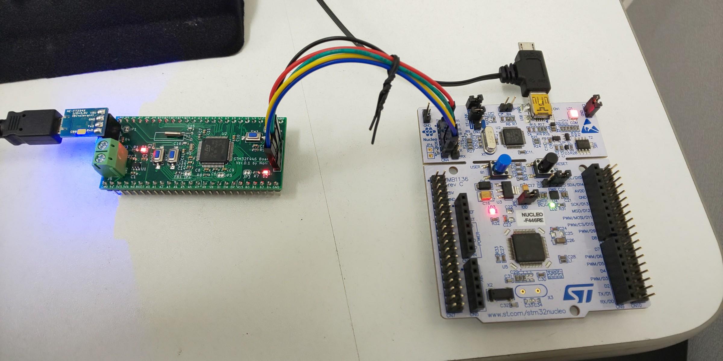 Nucleoに標準搭載されているST-LINKを使った書込み