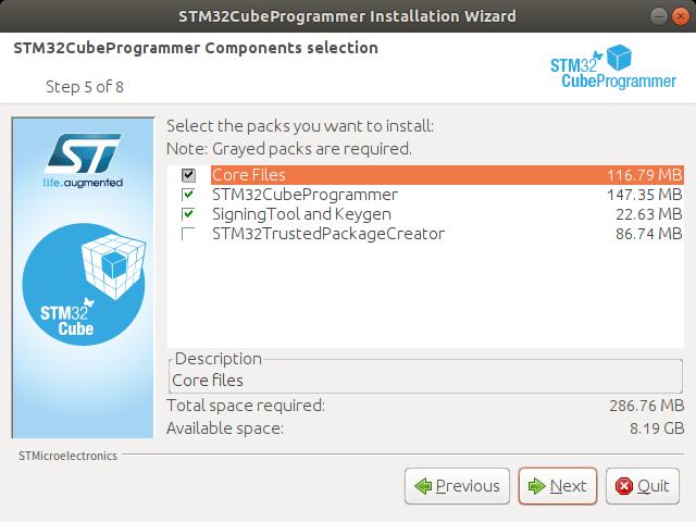 STM32CubeProgrammerのインストール