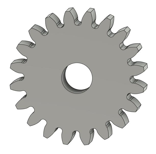 モジュール0.3、歯数20のギア