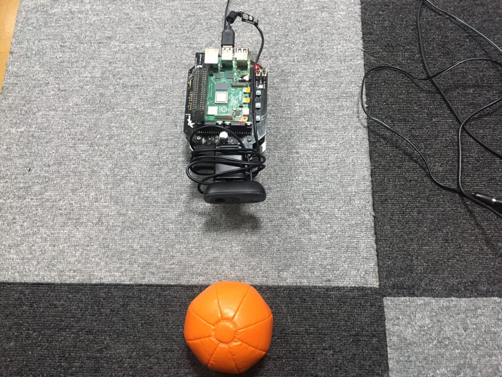 オレンジボールを撮影