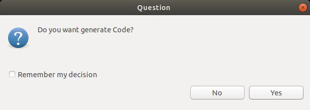 保存を押すと、ソースコードが自動生成される