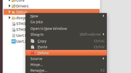 デバッグファイルの削除