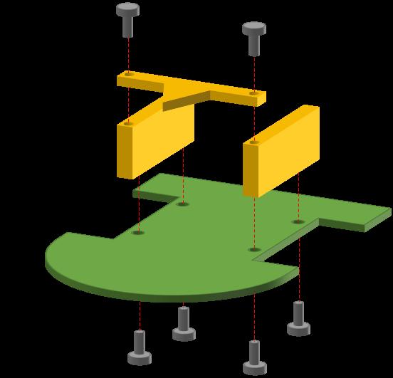フレームの固定方法