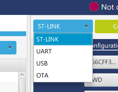 ST-LINK、UART、USB、OTA
