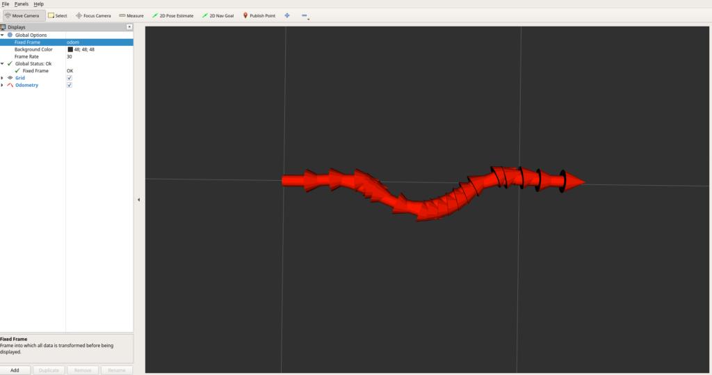 RViz2でライントレースの走行軌跡を描画する
