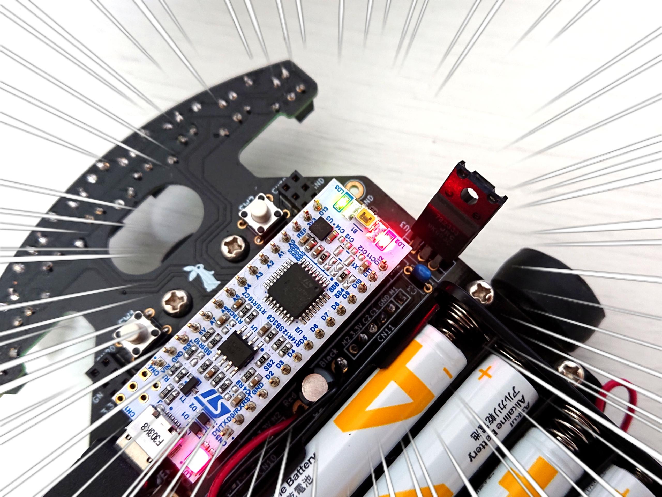 NABEのロボトレース研修【Part.6】LEDを点滅させてみる