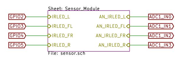 ブロック化されたセンサ回路