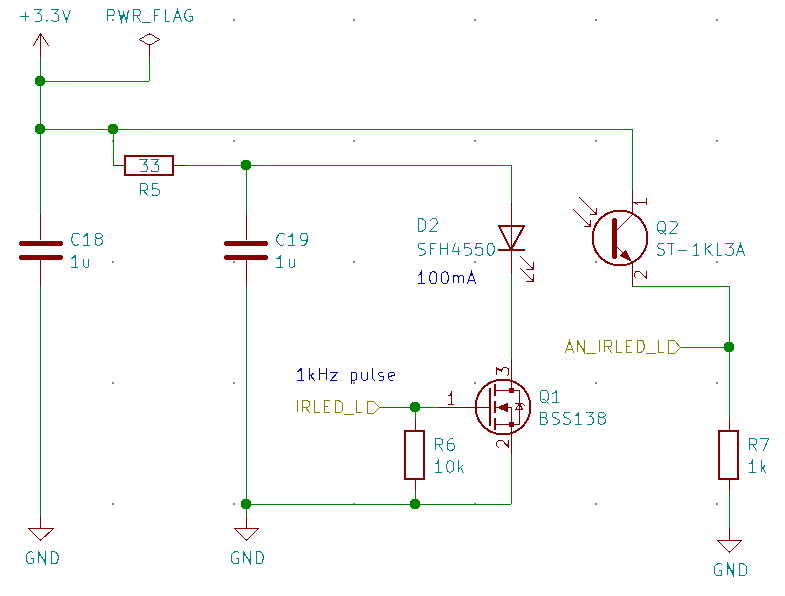 ある1方向の壁の距離を測定する回路