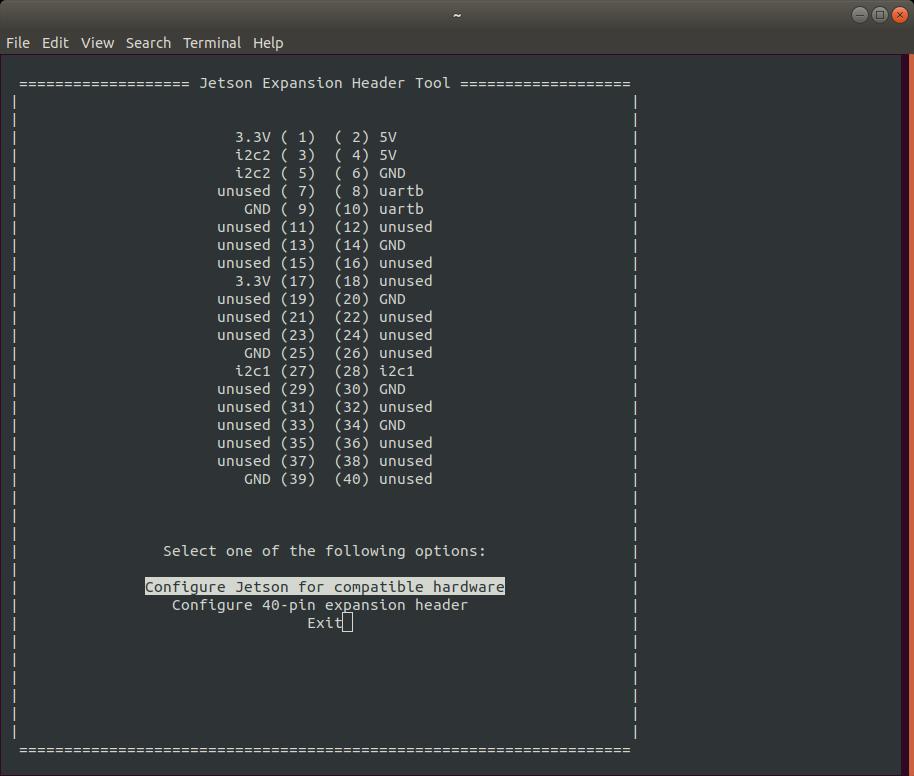 Configure 40-pin expansion header