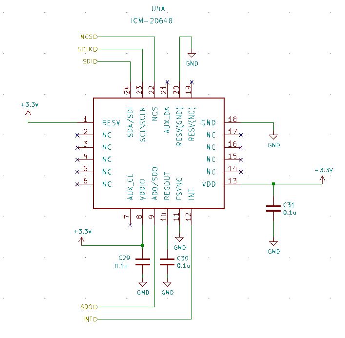 IMU周辺の回路図