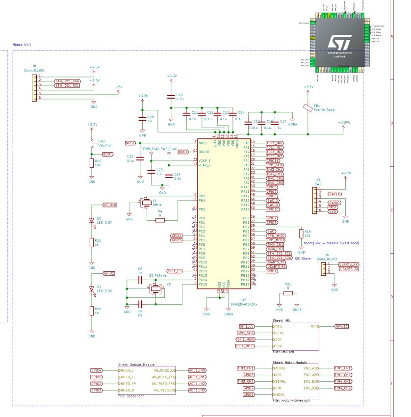 STM32周辺の回路図